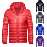 Men's Padded Bubble Coat Hooded Quilted Puffer Jacket Warm Winter Fashion Exotic