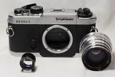 Voigtlander BESSA-L Silver+50mm range finder+1968 Jupiter 50mm f2 lens