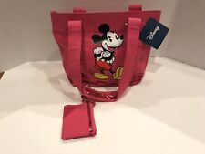 Nwt Disney Mickey Mouse Pink Girls Purse With Coin Bag (11�x8�x4.5�)(B6)