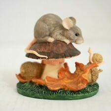 Charming Tails 85/401 Fall Frolicking - Retired Silvestri Mouse Toadstool Figure