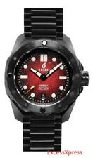 NEW BOLDR Odyssey Metal Red Stainless Steel Black DLC watch Swiss automatic 500m