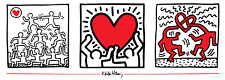 Untitled (1987) by Keith Haring Art Print Offset Lithograph Poster 13x37.5