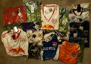 ADIDAS MLS JERSEYS LOT OF 20 ASSORTED MEN'S, WOMEN'S, YOUTH BRAND NEW