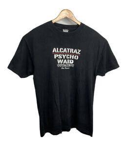 Vintage Alcatraz Psycho Ward T Shirt Black Mems Size L