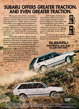 1982 1983 Subaru Wagon Vintage Advertisement Print Car Ad J441