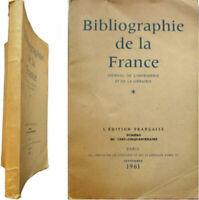 Bibliographie de la France journal de l'imprimerie et librairie 1961 Žditeurs