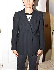 luxurious jacket dressed bcbg wool black striped MAX MARA size 38 en 40 i D 36