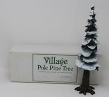 "Dept 56 Village Accessories Pole Pine Tree 10 1/2"" tall 55298"