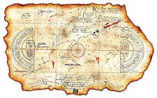 "Goonies One-Eyed Willie's Pirate Treasure Map- 17"" x 22"" Movie Prop Print -00217"