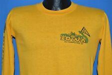 vintage 80s IOWA HAWKEYES 1983 GATOR BOWL COLLEGE FOOTBALL L/S YELLOW t-shirt S