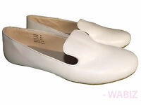 Ladies Pumps Loafers Womens Flat Casual Office Work School White Shoes Sz 3-8