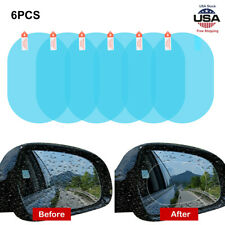 Rainproof Anti-Fog Car Rearview Mirror Film 6PCS Hydrophobic Protective Sticker