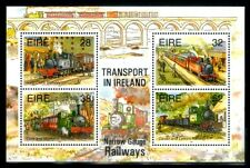 ireland 1995 trains , railroads , railway , transport MNH miniature sheet