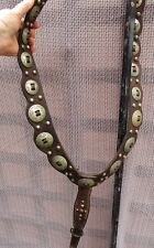 Antique Breast Collar (Martingale) U Shaped Spotted & 15 Star Conchas