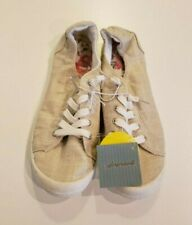 MARGARITAVILLE Women's Ivory Shoes 9 US Natural Metallic Linen Comfort Lace NEW