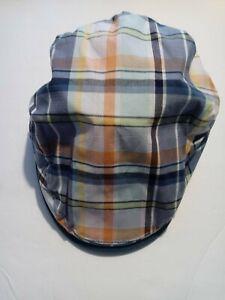 New Penguin By Munsingwear Hat Plaid Teal Paperboy Golf Cabbie Cap Onesize