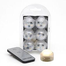 6x LED Teelicht Schwimmkerze Unterwasser Licht Fernbedienung 3 SMD Ø 3cm 70453