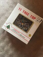 Vintage Christmas Tree Topper Holiday Multi Color 11 Light Tinsel Star In Box