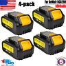 4x For Dewalt DCB201 DCB204-2 DCB200-2 20V 20 Volt Battery Max Lithium 6Ah Pack