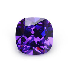 10X10mm AAAAA Purple Sapphire Square Cushion Faceted Cut 6.79ct VVS Loose Gems