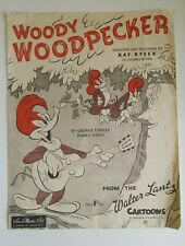 Woody Woodpecker, desde el Walter Lantz dibujos animados, Vintage Partituras