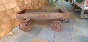 Original 1920s  Buster Brown #3 Wooden Coaster Wagon