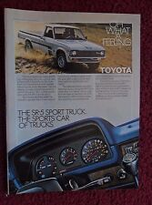1980 Print Ad Toyota SR5 SR-5 Sport Pickup Truck ~ The Sports Car of Trucks