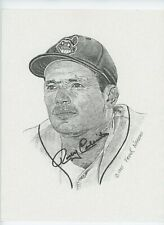 Rocky Colavito 8.5x11AUTOGRAPHED B&W Print By Frank Nareau MLB Cleveland Indians