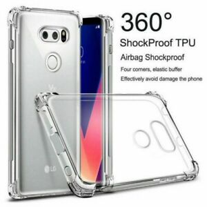 Crystal Clear TPU Protection Case Cover For LG Stylo4 V50 G7/8 k10/40 Q60 Ls775