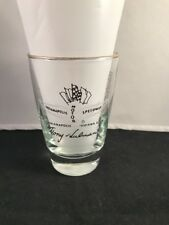 1975 Indianapolis 500 Whiskey Glass IMS Official Gift from Hulman George Family