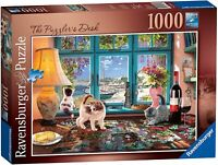 Ravensburger 1000 Piece Puzzle – The Puzzler's Desk 198474 NEW SEALED