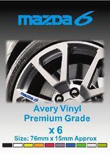MAZDA 6 Alloy Wheel Vinyl Stickers - Graphics X 6