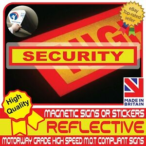 Security Fully Reflective Magnet Magnetic Sign or Vehicle Car Sticker High Vis