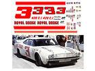 3 Buddy Baker Royal Dodge 1968 1/64 scale Decal fits Tyco Lifelike Autoworld