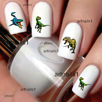 T rex Dinosaur Nail Art Water Decals Stickers Manicure Salon Mani Polish Gift