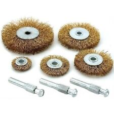 5pc Flat Wire Wheel Brush Set Paint/Rust Removal Adaptor - Fits To Your Drill