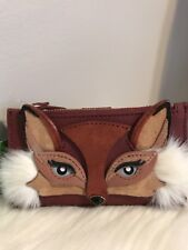 NWT Kate Spade So Foxy FOX Mikey Small Bifold Wallet Brown GORGEOUS Gift