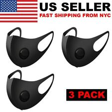 6pcs Adult Reusable Breathable Face Mask With Breathing Valve Filter Washable