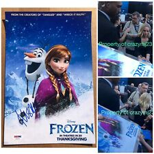 Kristen Bell Signed Frozen 2 Poster Ana Olaf Autograph Exact Proof PSA DNA COA
