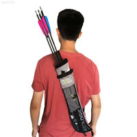 A564 Archery Arrow Quiver Holder Belt Back Strap Bag PouchBow Shoot Hunting