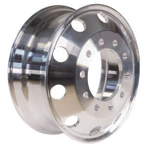 22.5 x 8.25 Aluminum HD Truck Trailer Wheels Rims Hub Dually 10 Lug Alcoa Style