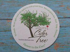 Beer Coaster ~ HAZLITT'S Cider Tree Premium Sparkling Hard Apple Cider; NEW YORK