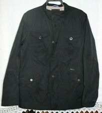 Sisley Abrigo Chaqueta Negra Para Hombre Talla Xl Buen Estado Usado