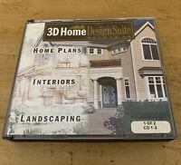 Borderbund 3D Home Design Suite Deluxe 3.0 Software CD-ROM Windows 95 + 98 Plans