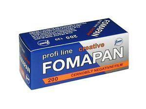 10x Fomapan Creative 200 B&W film, 120 / 6x6 format, 02/2023