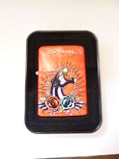 69502 Ed Hardy Gas Fire Lighter With Jetflame Panther