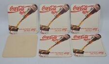 """COCA-COLA 6 sous-bocks sous-verre """"Juste une calorie par verre"""" NEUF"""