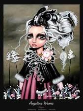 Angelina Wrona Angora Novelty Fantasy Girl Rabbits Print Poster 24x32