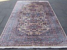Traditionnelle Pakistan laine beige oriental fait à la main tapis moquette 270x191cm