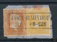 Preußen Briefstück mit Nr:1 +12 Breitrandig und K2 Cöln-Bahnhof  nicht häufig !